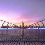 St Paul's Cathedral Tour with Let me show you London - St Paul's Cathedral dome with millennium bridge in foreground