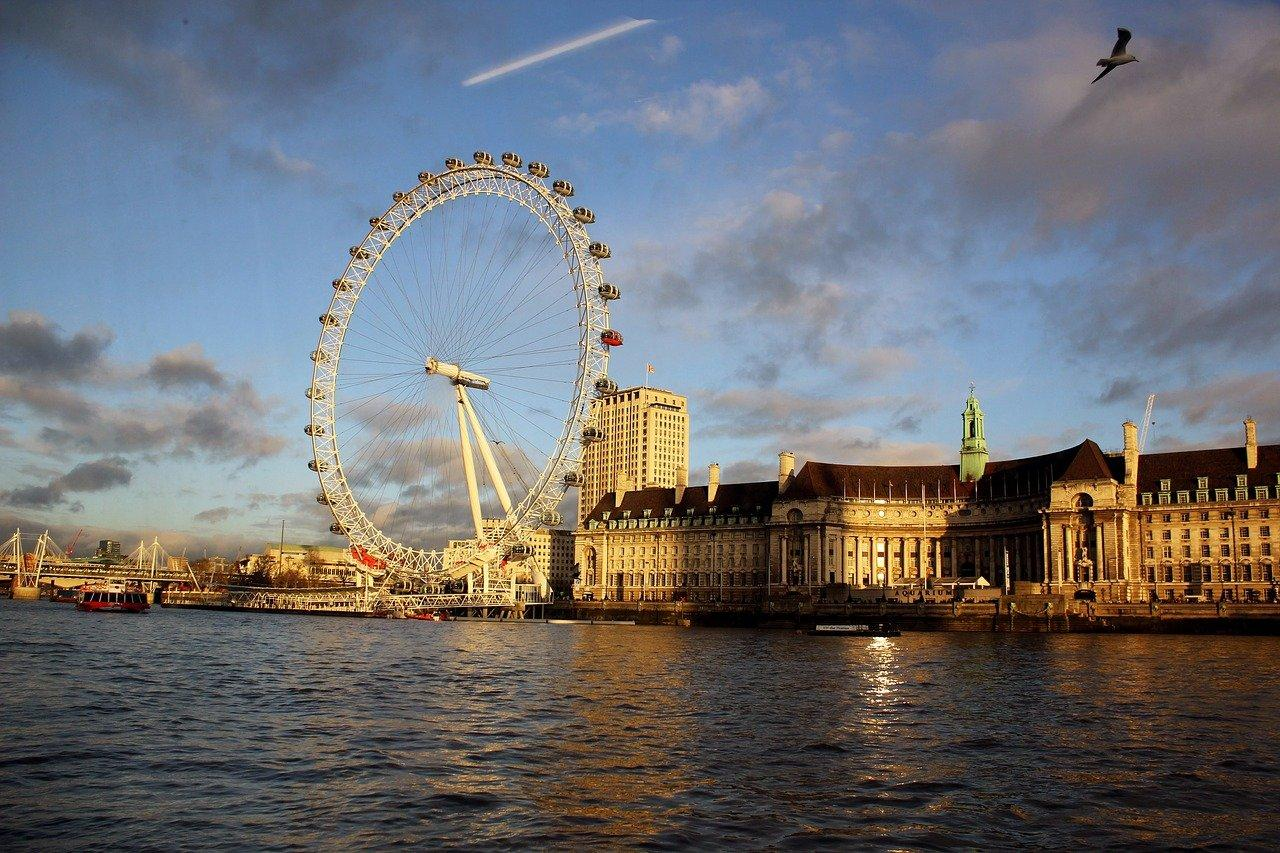 London Eye from across the River Thames