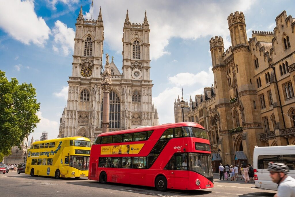 Double decker red bus in London from Let Me Show You London