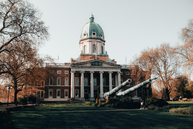 Imposing entrance to the Imperial War Museum London