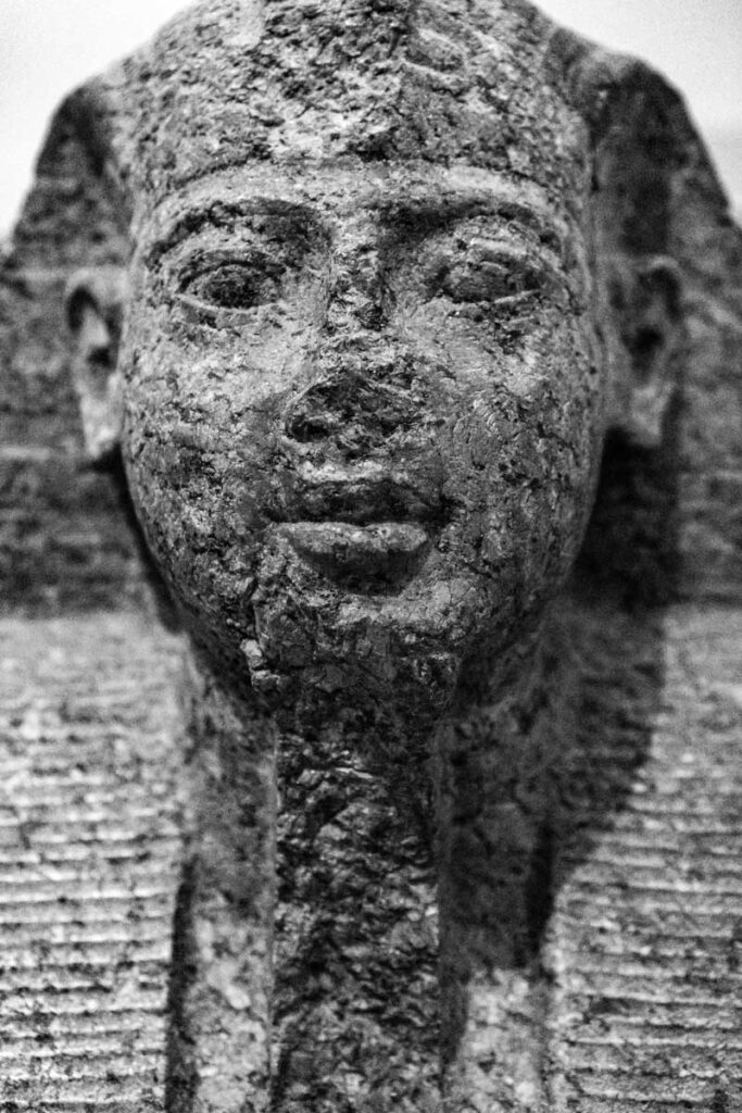 Egyptian statue at the British Museum