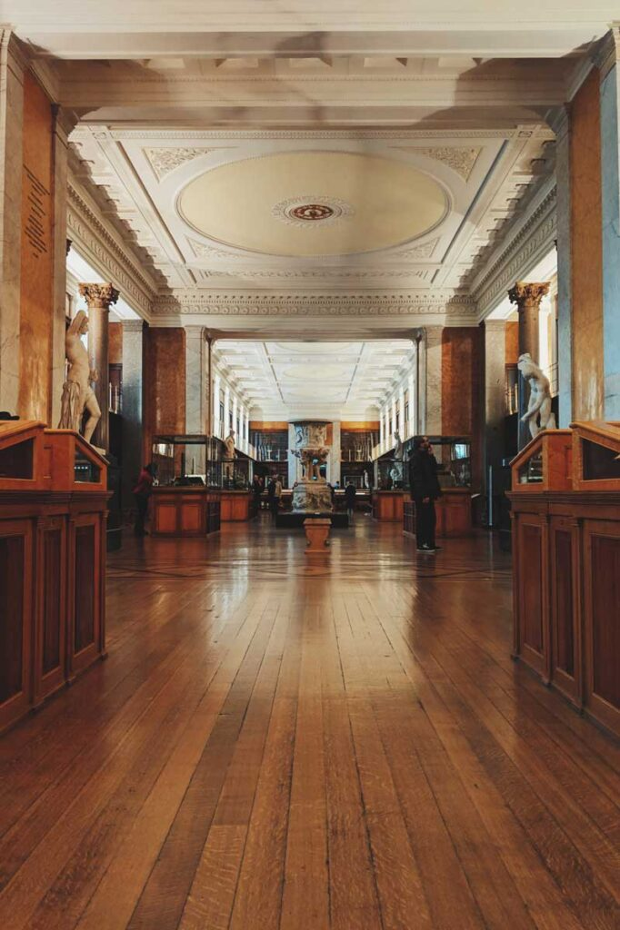 original section of the British Museum which now houses the enlightenment gallery